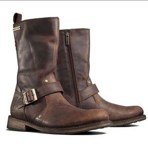 Harley-davidson brown leather brendan boots